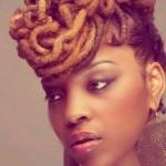 Beautiful ebony face with nice dreadlocks