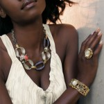 Black woman has beautiful jewelry