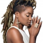 Ebony girl has beautiful locs. Very nice hairstyle !