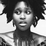 Black girl has an original natural hairstyle