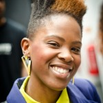 Black woman has an amazing short natural hairstyle