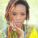 Black woman has a nice hairstyle with fine locs