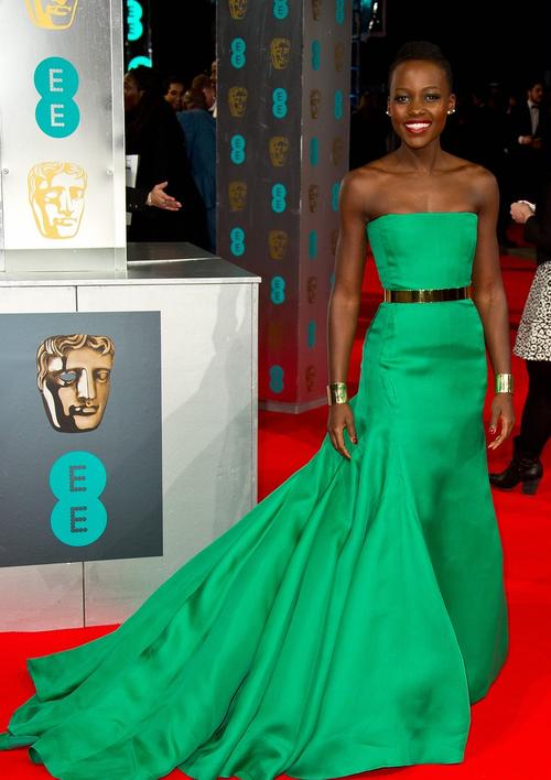 Lupita Nyong'o wears a wonderful green dress