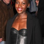 Lupita Nyong'o wears a nice leather bustier