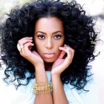 Solange Knowles very nice curly hairstyles and makeup