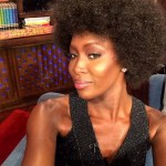 Naomi Campbell afro hairstyle