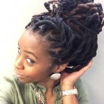 Hairstyle with locs