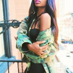 Fashion streetwear style with long straight colored hair