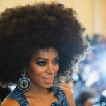 Beautiful Solange Knowles has afro hairstyle