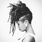 Crazy hairstyle with locs
