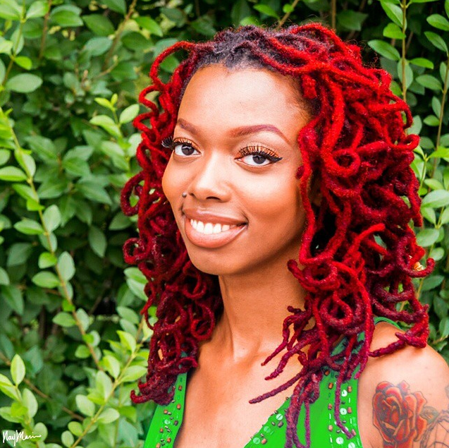 Amazing red locs hairstyle