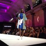 Black Fashion Week 2014 - Hayati Chayehoi - Blue dress and colored coat