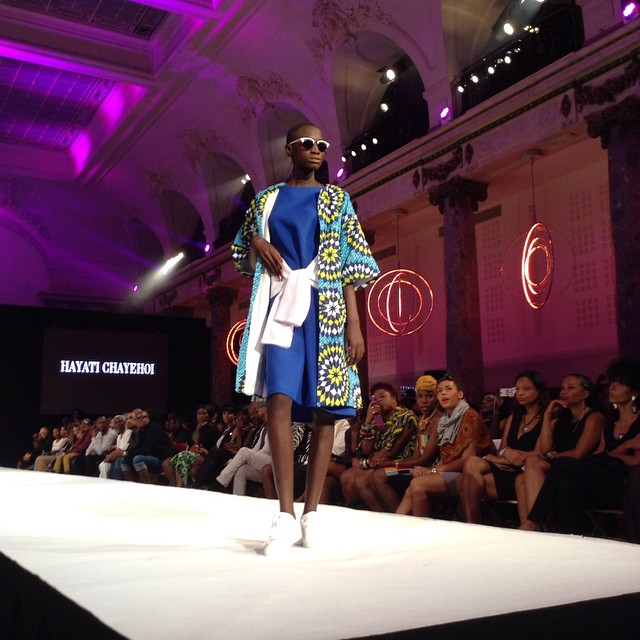 Black Fashion Week 2014 - Hayati Chayehoi - Blue dress and colored coat