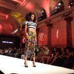 Black Fashion Week 2014 - Adama Paris - Short stripped top and flowered pants