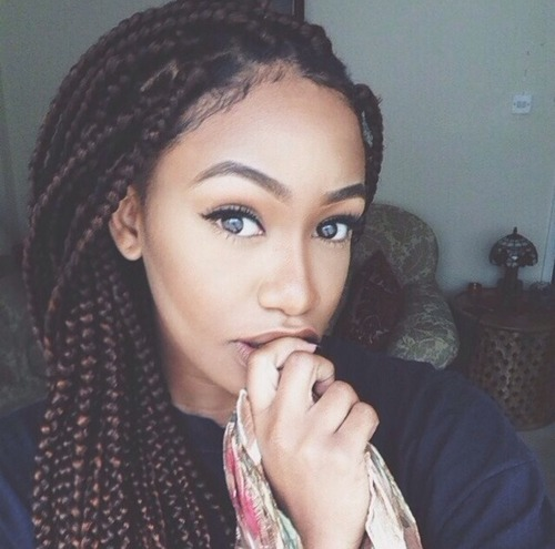 Perfect long big braids hairstyle