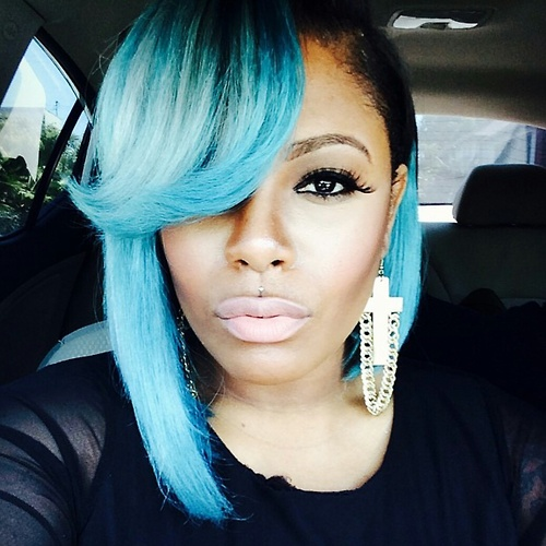 Amazing blue hairstyle