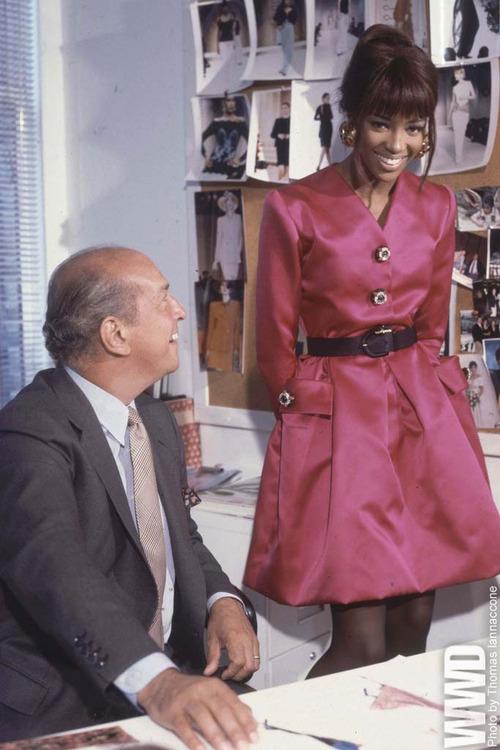 Naomie Campbell with Oscar de la Renta