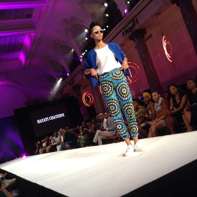 Black Fashion Week 2014 - Hayati Chayehoi - Colored pants and blue jacket