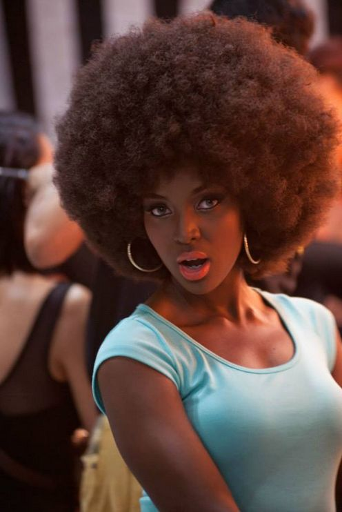 Afro hairstyle !!