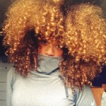 Gorgeous golden curly hair