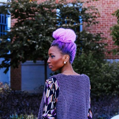 Purple bun, purple bun...