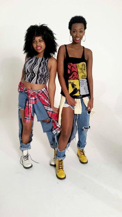 Streetwear, torn jeans