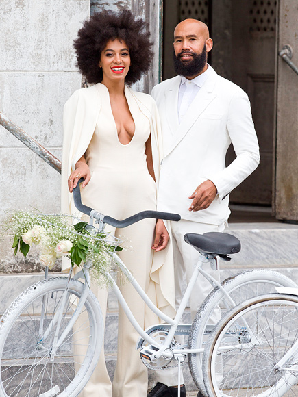 Solange Knowles natural hairstyle at her wedding