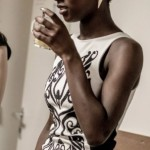 Very nice black and white thight short dress