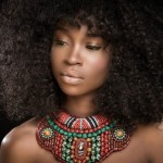 Nneka egbuna curly hairstyle and big necklace