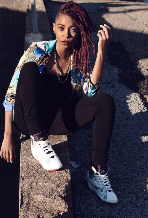 Streetwear fashion style and red locs