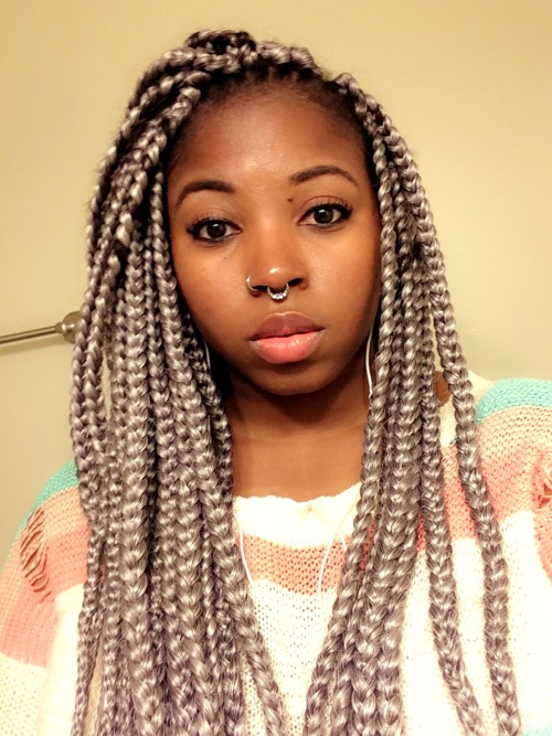 Silver braids and piercings