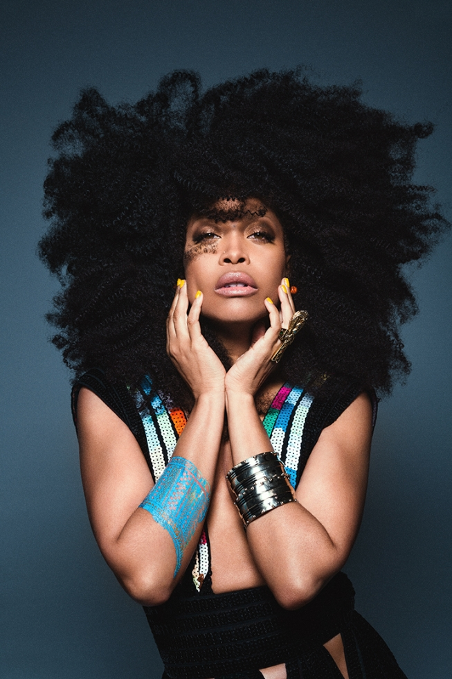 Erykha Badu amazing gorgeous hairstyle
