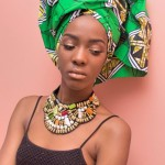 African Fashion : headscarf and necklace