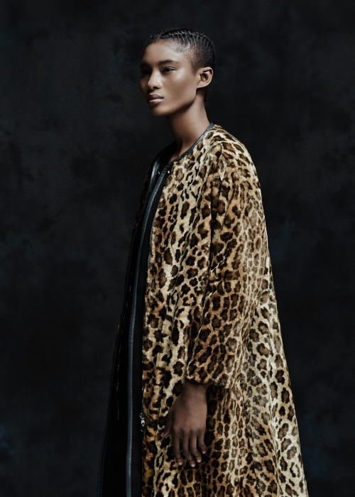 Amazing faux fur leopard coat