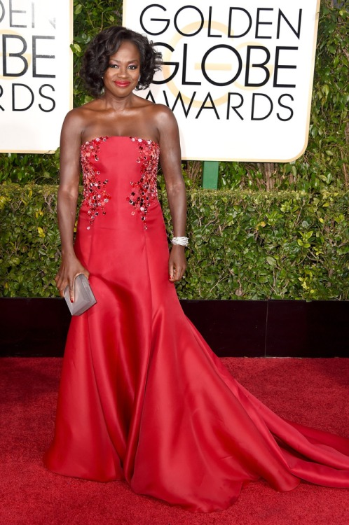 Golden Globe Awards dresses : Viola Davis