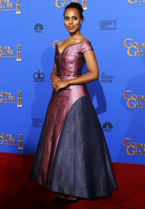 Golden Globe Awards dresses : Kerry Washington