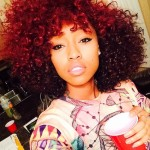 Red gorgeous curly hair