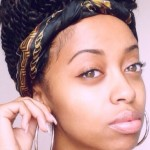 Nice hairstyle with twists and headscarf