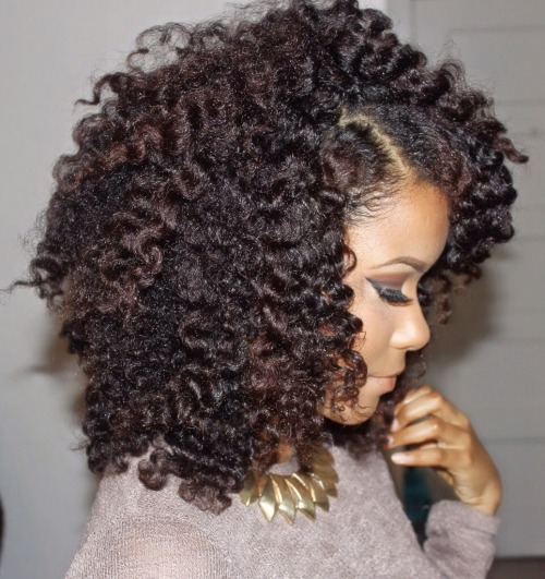 Beautiful twists out natural hairstyle