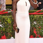 Viola Davis wears long white dress at the 21st annual Screen Actors Guild Awards