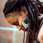 Nice long locs hairstyle and earrings