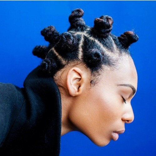 Bantu knots natural hairstyle