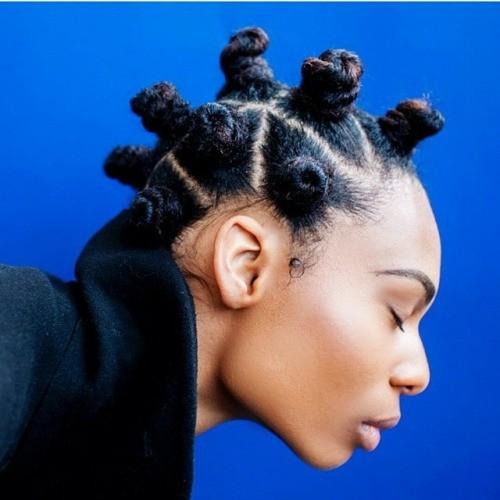 Bantu knots natural hairstyle