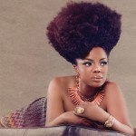 Leela James beautiful afro hairstyle and necklace