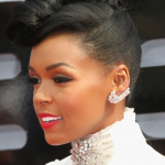 Janelle Monae wears a funnel cloud natural hairstyle