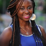 Nice twists two colors hairstyle