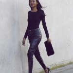 Natasha Ndlovu all in black elegant fashion style