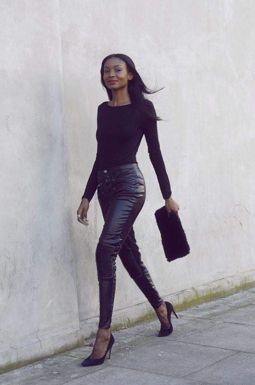 Natasha Ndlovu all in black elegant fashion style