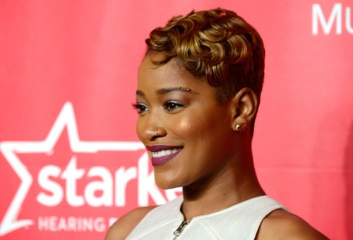 Keke Palmer interesting short golden hairstyle