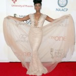 Gugu Mbatha-Raw wears a nice dress at NAACP Image Awards 2015